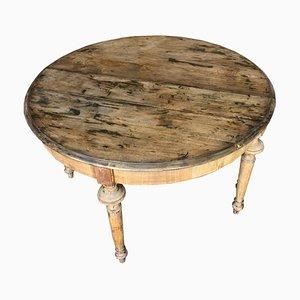 Mesa de comedor modular sueca antigua extensible