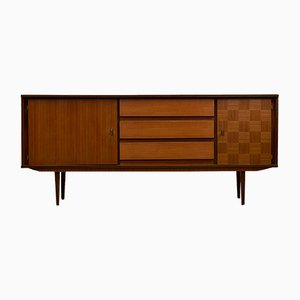 Vintage German Walnut & Teak Sideboard, 1970s