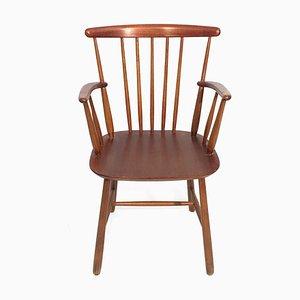 Chaise de Bureau Vintage Marron, Suède, 1960s