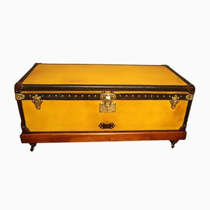 Antique Yellow Canvas Trunk by Louis Vuitton, 1900s