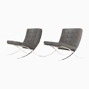 Vintage Lounge Chairs by Ludwig Mies van der Rohe for Knoll Inc. / Knoll International, Set of 2