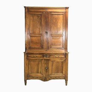 Mueble de dos partes Luis XV antiguo de nogal