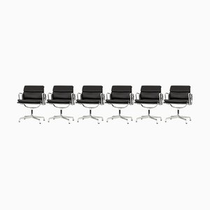 EA 107 Armchairs by Charles & Ray Eames for Vitra, 1990s, Set of 6