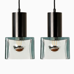 Ceiling Lamps by Flavio Poli for Seguso, 1960s, Set of 2