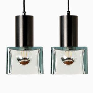 Lámparas de techo de Flavio Poli para Seguso, años 60. Juego de 2