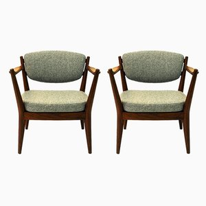Norwegian Teak Lounge Chairs by Fredrik A. Kayser for Arnestad Bruk, 1950s, Set of 2