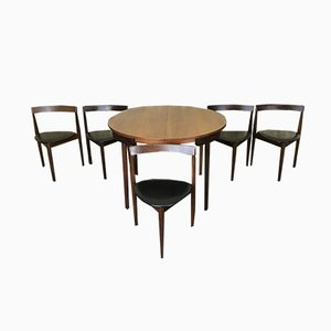 Mid-Century Teak Table & 5 Chairs Set by Hans Olsen for Frem Røjle