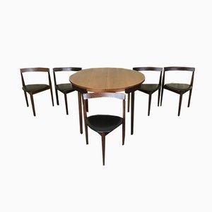 Tavolo Mid-Century in teak con sedie di Hans Olsen per Frem Røjle