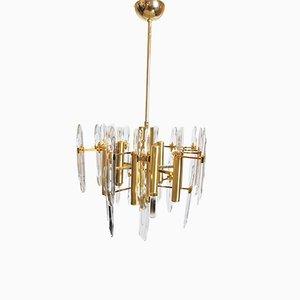 Lampadario a nove luci vintage di Gaetano Sciolari, anni '60