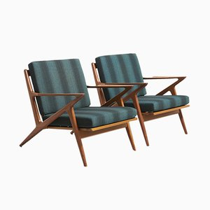 Z-Chairs by Poul Jensen for Selig, 1950s, Set of 2