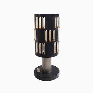 Tischlampe aus Glas & Metall von Schmahl & Schulz, 1960er