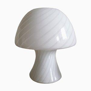 Lámpara de mesa hongo de cristal de Murano, años 60