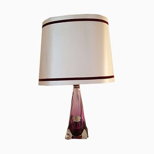 Mid-Century Belgian Crystal Table Lamp from Val St. Lambert