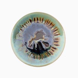 Centro de mesa Mid-Century grande de cerámica policromada, años 60