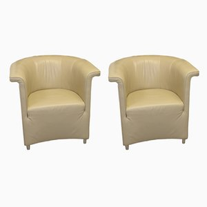 Club chair DS 725 in pelle beige di Paolo Piva per de Sede, inizio XXI secolo, set di 2