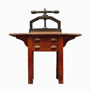 Antiker viktorianischer Tisch mit Buchpresse von Waterlow Bros & Layton, 1880er