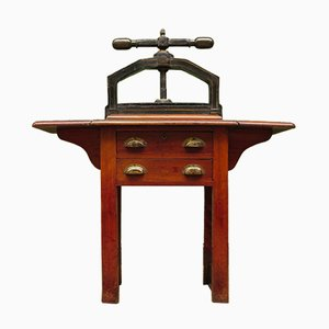 Antique Victorian Book Press Table by Waterlow Bros & Layton, 1880s