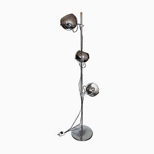 Lampadaire Mid-Century en Chrome Plaqué avec 3 Globes par Gebroeders Posthuma pour Gepo, 1960s