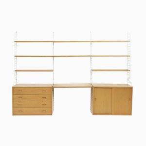 Mid-Century Ash Wall Unit by Strinning, Kajsa & Nils for String
