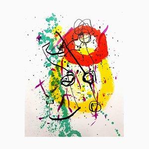 Bunte Lithografie von Joan Miro, 1961