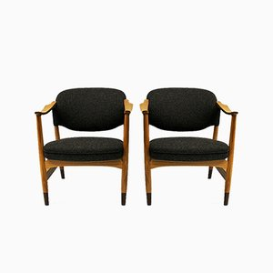 Norwegian Ash Lounge Chairs by Olav A. Hessen for P.I Langlo AS, 1950s, Set of 2