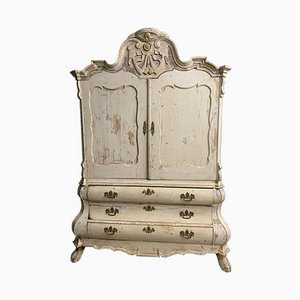 Antique Swedish Linen Press, 1790s