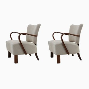 Armchairs by Jindřich Halabala for UP Závody, 1950s, Set of 2