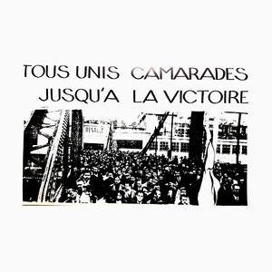 Vintage French May 68 Together Until the Victory Poster from Editions Tchou