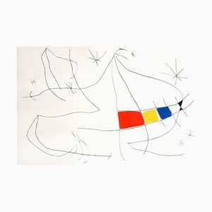 L'issue Dérobée Aquatint Print by Joan Miro, 1974