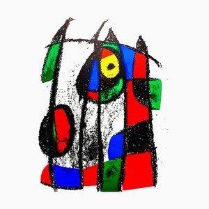 Lithographie Abstraite par Joan Miro, 1975