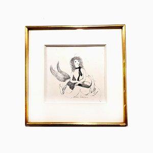 Gravure à l'Eau-Forte Femme par Marie Laurencin, 1940s