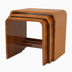 Tavolini ad incastro Art Deco di Ray Hille, Regno Unito, anni '30
