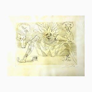 Acquaforte The Circus in pergamena di Salvador Dali, 1965