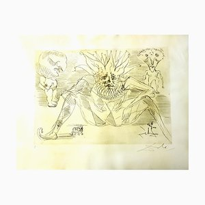 The Circus Parchment Etching by Salvador Dali, 1965