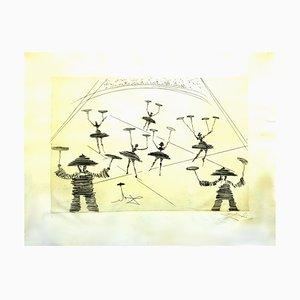 Acquaforte cinese in pergamena di Salvador Dali, 1965