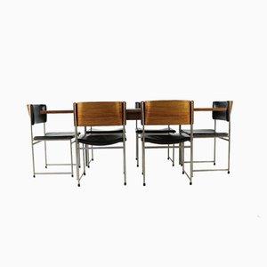 Juego de mesa de comedor y seis sillas vintage de palisandro de Cees Braakman para Pastoe, 1958