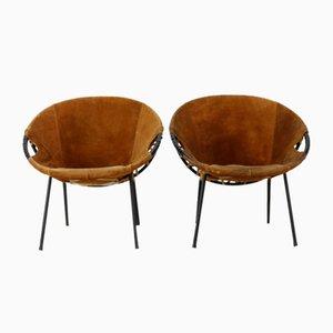 Vintage Sessel aus Wildleder von Erik Ole Jørgensen für Lusch & Co, 1960er, 2er Set