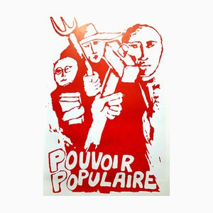 Vintage French May 68 Power To the People Poster from Editions Tchou