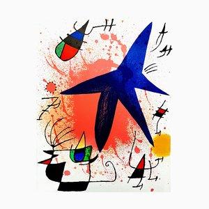 Abstrakte Lithografie von Joan Miro, 1981