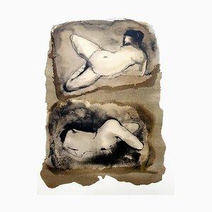 Lithographie Duo par Leonor Fini, 1964