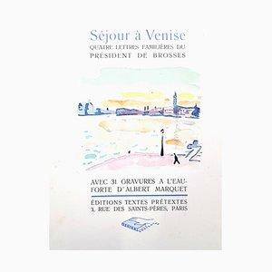 Venice Journey Portfolio mit 31 Radierungen von Albert Marquet, 1947