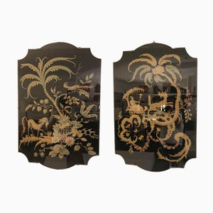 Antique Silk Embroideries, Set of 2
