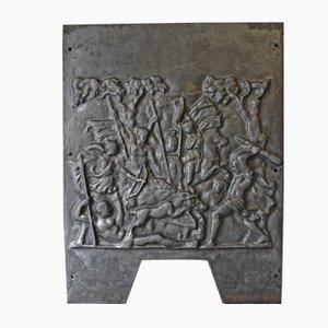 Französische Vintage Kaminplatte aus Gusseisen