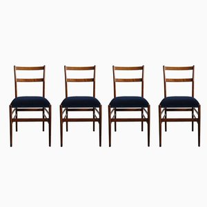 Leggera Esszimmerstühle von Gio Ponti für Cassina, 1950er, 4er Set