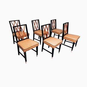 Chaises de Salon Mid-Century par Paolo Buffa, années 50, Set de 6