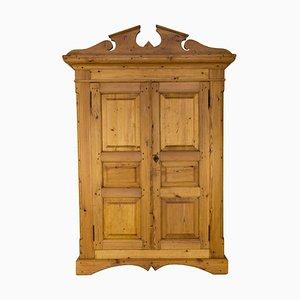 Antiker Kleiderschrank aus Kiefernholz mit 2 Türen
