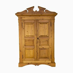 Antique Pine 2-Door Wardrobe
