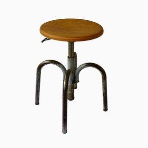 Vintage Industrial Height Adjustable Stool, 1960s
