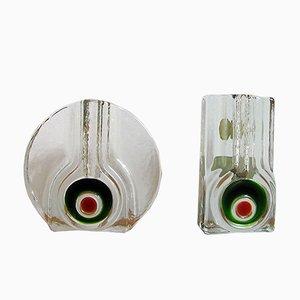 Vintage Vasen aus Kristallglas von Walther, 1970er, 2er Set