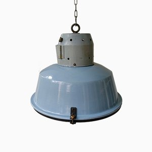 Large Vintage Industrial Swiss Ceiling Lamp from Huco, 1960s